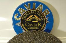 250g imperial Gold caviar, caviar fresco störkaviar + 2 madreperla-cuchara