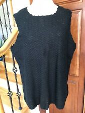 REQUIREMENTS ~ Women's Knitted Tank Sweater - Black (XL) - NEW