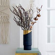 Bloomingville metal vase blue-gold 23cm