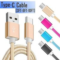 Type C Nylon Braided Rope USB-C Type-C 3.1 Data Sync Charger Charging Cable Cord
