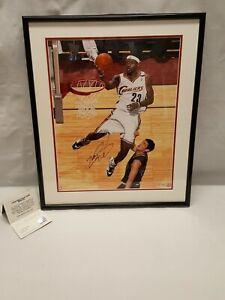 LeBron James Signed Framed Cleveland Cavaliers 16x20 Photograph UDA BAJ70049