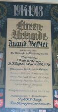 "GERMAN- First Aider's,  ""Honour Cert.""  Holder of EK II & Vets. Honour Cross."