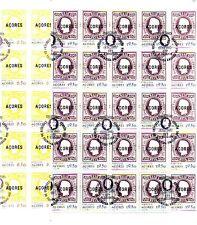 Azoren Bogen 50 Stück Michel  334 - 335  gestempelt