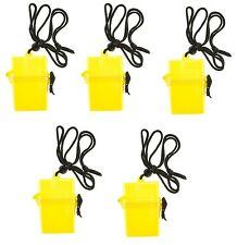 (5) Mini Waterproof Plastic Container Box Case Holder ID Credit Card Money Pack