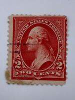 VINTAGE STAMP💎1894💎 2 Cent George Washington, carmine , type III💎