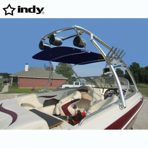 INDY Flat Wakeboard Tower Bimini 1580V Navy Blue Canopy