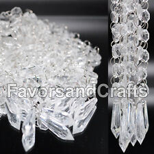 12 Wedding Acrylic Garland Strands Diamond Crystal Bead Chandelier Hanging Decor