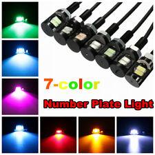 2x 2 LED License Number Plate Light Screw Bolt Bulbs 5630 SMD Car Motorcycle 12V