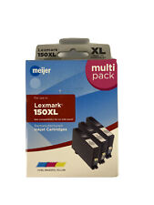 Meijer Ink Cartridge For Lexmark 150XL Cyan/Magenta/Yellow Color Inkjet Sealed