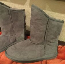 Australia Luxe Collective Rich Gray Suede Boots In Size 11, Retail $215