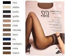 SISI FASCINO 40 Collant voile sans démarcation, Taille 5 (XL), Coloris : Bambu