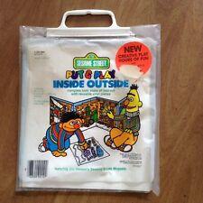 Vintage Sesame Street Put & Play Inside Outside Reusable Vinyl Playset Unopened
