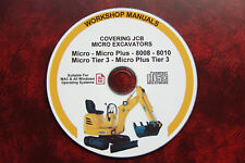 JCB MICRO, MICRO PLUS, 8008, 8010 MICRO EXCAVATOR SERVICE REPAIR MANUAL