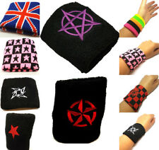 2X Sports Wrist Sweat Bands Wristbands 80s Fitness Sweatbands Gym Tennis Unisex