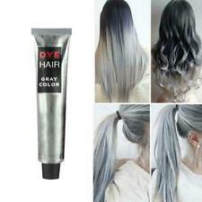 1PCS Light Gray Color Natural Permanent Super Hair Cream Cosmetic Dye E6H8