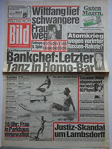 Bild Zeitung 4.1.1985, Joan Collins, Susanne Uhlen, Michaela Probst, Ron Wood