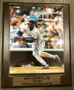 Ken Griffey Jr. Seattle Mariners Signed Autograph Plaque w/COA Stacks of Plaques