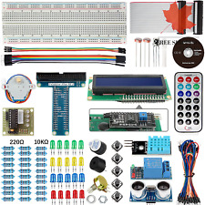 Basic Starter Kit for Arduino UNO R3 Project with Tutorial Breadboard Jumper ...