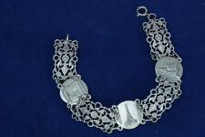 Rare and Nice Art Nouveau feligree Bracelet Souvenir of Paris EIFFEL TOWER
