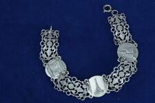 Rare and Nice Art Nouveau feligree Bracelet Souvenir of Paris EIFFEL TOWER