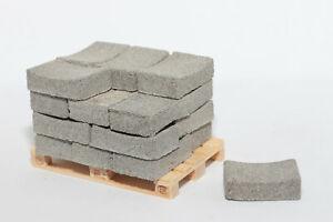 20 Stk Beton Muldensteine 1:14,5 - 1:18 für Modellbau   Dioramabau Ladegut