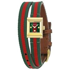 Gucci YA128527 G-Frame Red and Green Dial Canvas Women's Watch