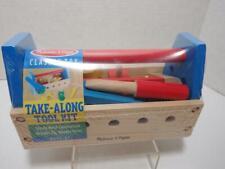 Melissa & Doug 494 Take-Along Wooden Toy Tool Kit Set, 24-Piece Sealed