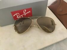 RAY BAN #RAYBN40002 Large Oversized Gold Aviator Sunglasses – RARE FIND