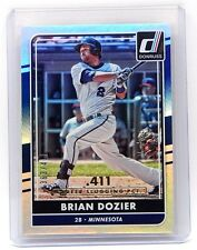 2016 Donruss #115 Brian Dozier Stat Line Career #363/411 Minnesota Twins