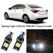 2x T15 3030SMD 1200 Lumens Led Backup Reverse Light for Toyota Corolla 1998-2017
