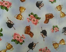 Saddles & Riding Hats -Quilting Fabric  .50cm = 2 fat quarters