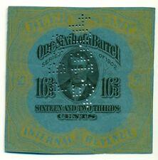 US #REA76a 16 2/3¢ Beer Tax Stamp, dark blue paper, used, Scott $250.00