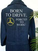 Personalised BORN TO DRIVE 100% Cotton Bathrobe Dressing Gown GIFT!!!