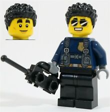 sombrero negro AIR002 Lego-Minifigura-Clásico Town-Aeropuerto-piloto piernas negro