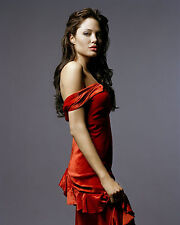 ANGELINA JOLIE 8X10 PHOTO PICTURE PIC HOT SEXY RED DRESS 98