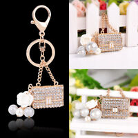 Rhinestone Crystal Key Ring Purse Bag Keyring Keychain Shining Pendant Gift 1pc