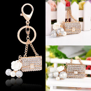 Rhinestone Crystal Key Ring Purse Bag Keyring Keychain Shining Pendant Gift 1pc