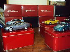 4 x 1:43 Solido serie esclusiva ALFA ROMEO GTV SPIDER 156 166 1962 2600 SPRINT