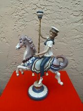 New ListingLladro Figurine Boy On Carousel Horse #1470 Retired 2000 By Jose Puche
