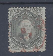 USA 1861 24c WASHINGTON USED WITH RED CANCEL  SG 74b