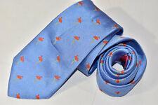 Men's Ben Silver Charleston Blue (Flamingos)  Silk Neck Tie