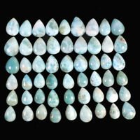 54 Pcs Natural Larimar Wholesale Lot 14mm-18mm Beautiful Untreated Cabochon Gems