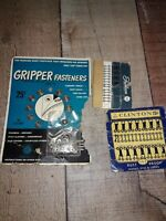 Vintage Gripper DIY Snap Fasteners. no sew fabric buttons and hooks
