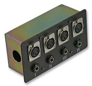 CONNECTION BOX 4X XLR S + JACK - Wall Plates and Floor Boxes - Audio Visual