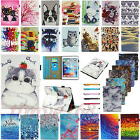 """For iPad 9.7"""" 2017 5th Gen Stylish Folio Pattern Smart Leather Case Cover Stand"""