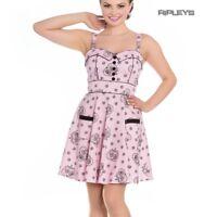 Hell Bunny Alchemy Mini Dress Pastel Goth KEEPSAKE Pink Skulls Hearts All Sizes