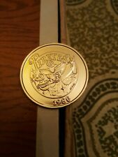 pirate skull sword in mouth 1986 mardi gras doubloon new orleans rare vintage