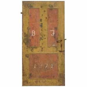RARE 1922 HAND PAINTED HUNGARIAN HAND PAINTED SECURITY ANTI LOOTING DOOR HUNGRY