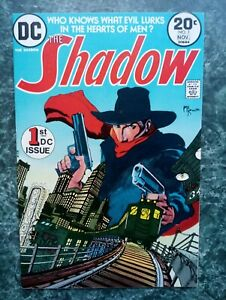 THE SHADOW #1 VF/NM OW2W KEY! 1st DC App of The Shadow (1973 DC COMICS)