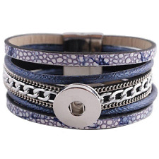 Magnetic Bracelet Magnolia Jewelry 18mm Fits Ginger Snap Ginger Snaps Blue